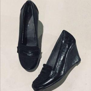 "{Aerosoles}  ""Penny Plum"" Wedge Loafers"